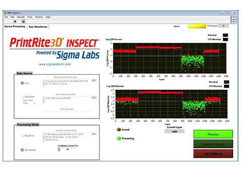 Sigma Labs PrintRite3D® INSPECT™3D打印过程控制和质量监测系统